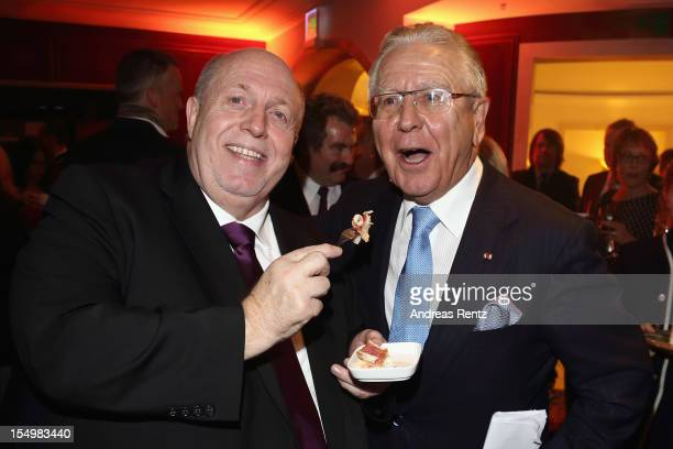 Reiner Calmund and Heinz Horrmann attend the 15th Busche Gala at Adlon Hotel on October 29 2012 in Berlin Germany