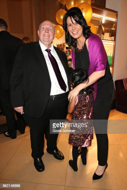 Reiner Calmund and his wife Sylvia Calmund and daugher Nisha during the 2oth 'Busche Gala' at The Charles Hotel on October 16 2017 in Munich Germany