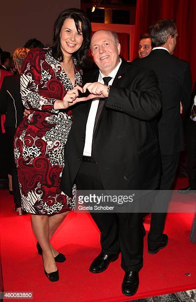 Reiner Calmund and his wife Sylvia Calmund attend the Ein Herz fuer Kinder Gala 2014 at Tempelhof Airport on December 6 2014 in Berlin Germany