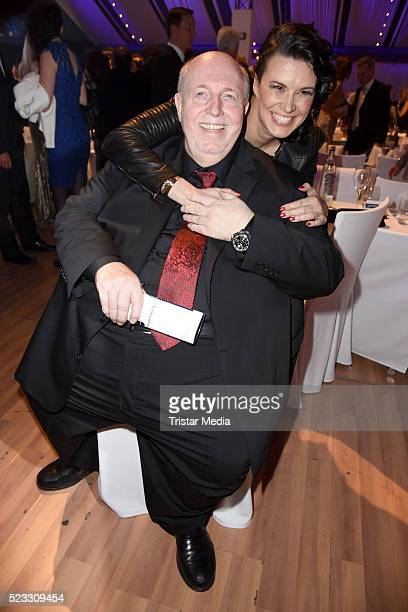 Reiner Calmund and his wife Sylvia Calmund pose during the Radio Regenbogen Award 2016 After Show Party on April 22 2016 in Rust Germany