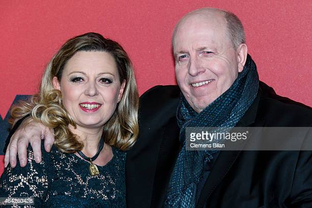 Reiner Calmund and Natalie Lumpp attend a photocall for the TV channel VOX on February 23 2015 in Berlin Germany
