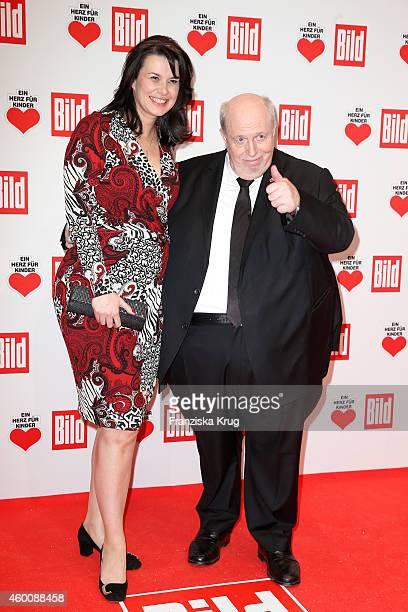 Reiner Calmund and Sylvia Calmund attend the Ein Herz Fuer Kinder Gala 2014 Red Carpet Arrivals on December 6 2014 in Berlin Germany