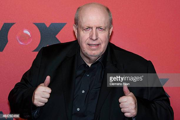 Reiner Calmund attends a photocall for the TV channel VOX on February 23 2015 in Berlin Germany