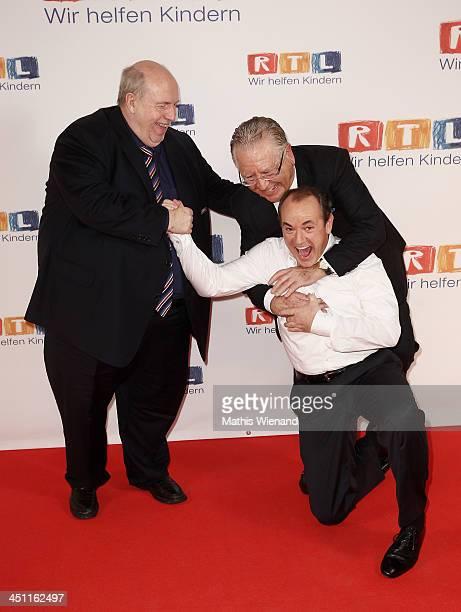 Reiner CalmundWolfram Kons and Heinz Horrmann attend the RTL Telethon 2013 on November 21 2013 in Cologne Germany