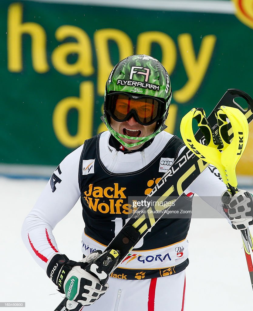 <a gi-track='captionPersonalityLinkClicked' href=/galleries/search?phrase=Reinfried+Herbst&family=editorial&specificpeople=833347 ng-click='$event.stopPropagation()'>Reinfried Herbst</a> of Austria competes during the Audi FIS Alpine Ski World Cup Men's Slalom on March 10, 2013 in Kranjska Gora, Slovenia.