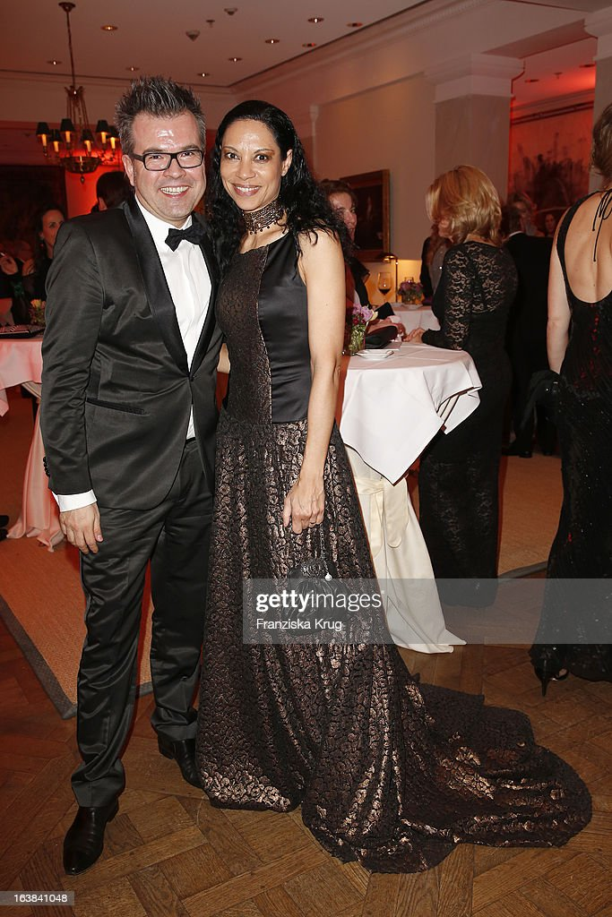 Reinhard Maetzler and Chantal de Freitas attend the Gala Spa Award 2013 at the Brenners Park Hotel on March 16, 2013 in Berlin, Germany.