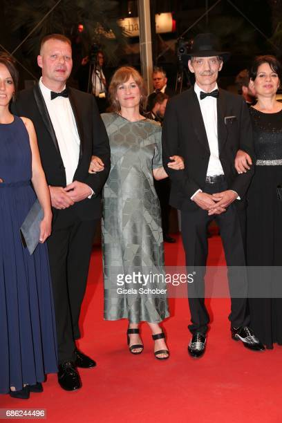 Reinhardt Wetrek director Valeska Grisebach and Meinhard Neumann attend the 'Western' screening during the 70th annual Cannes Film Festival at Palais...