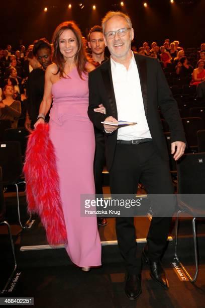 Reinhold Beckmann and Kerstin Beckmann attend the Goldene Kamera 2014 at Tempelhof Airport on February 01 2014 in Berlin Germany