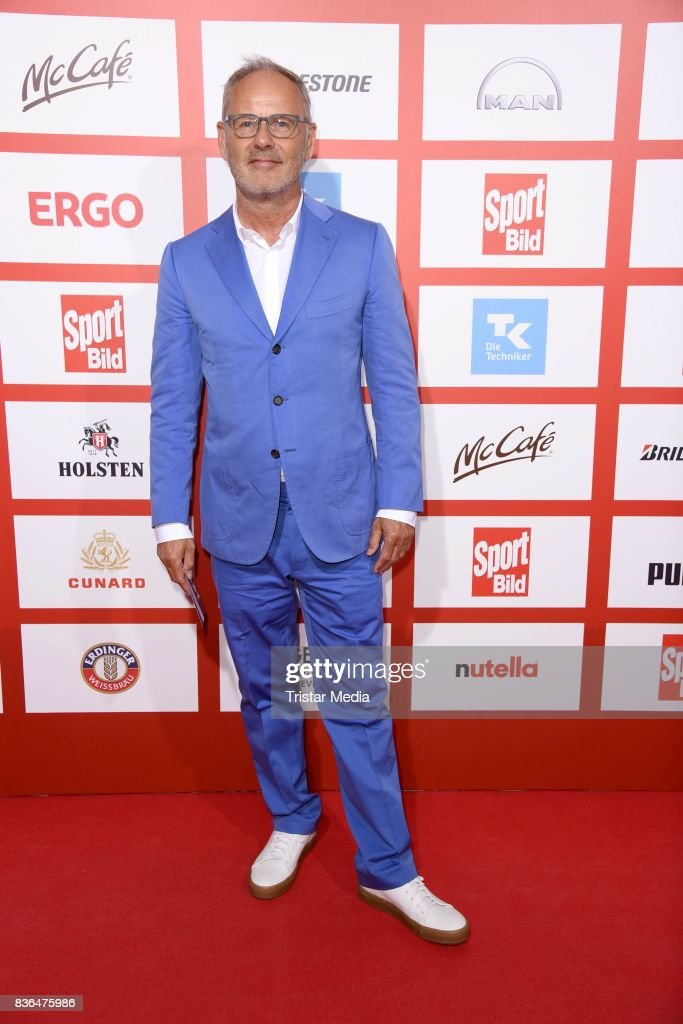 Reinhold Beckmann attends the Sport Bild Award on August 21, 2017 in Hamburg, Germany.