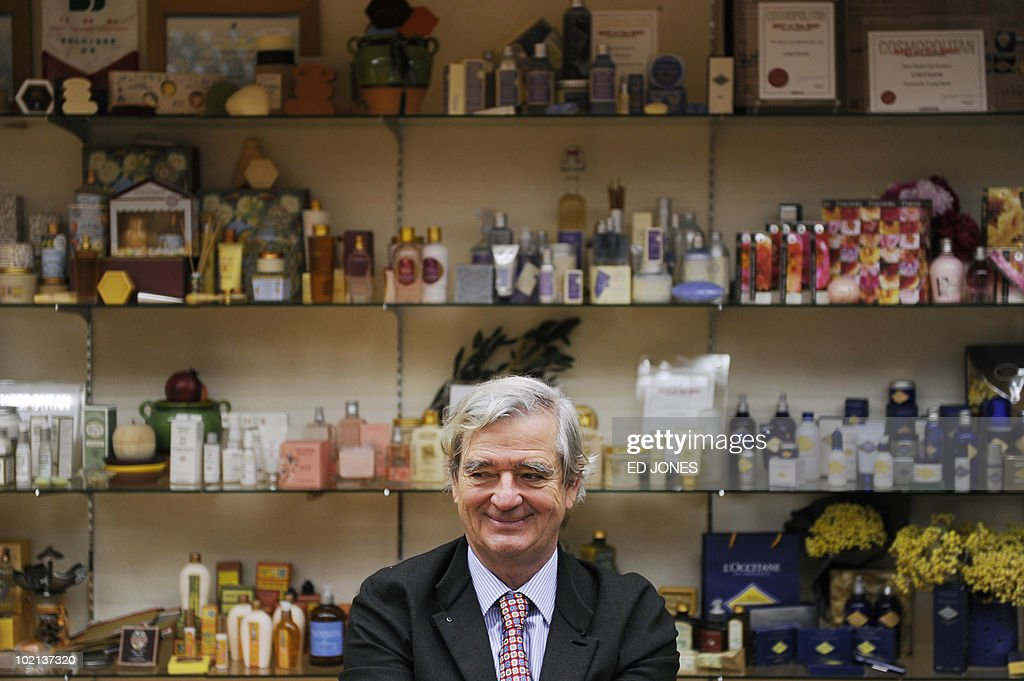 Reinold Geiger, president of French cosmetics group L'Occitane, attends a group briefing at the company's office in Hong Kong on May 6, 2010. L'Occitane, France's first company to list in Hong Kong, said it would double the number of its stores in China in five years and was eyeing merger and acquisition opportunities in the region.