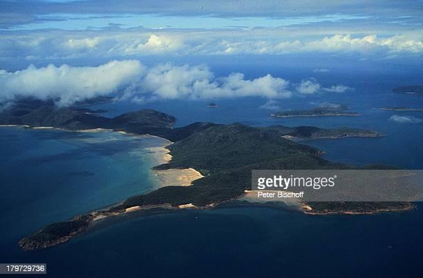 Reise Australien Insel HamiltonLuftaufnahme Wolken