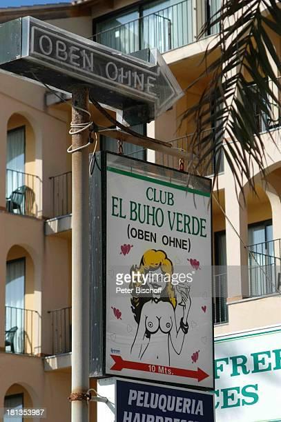 Reise Club ' El Buho Verde'Schild Playa de Palma Mallorca/Spanien Europa