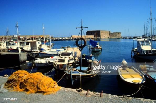 Reise Griechenland Europa Kreta Heraklion Hafen Kastell 'Kules'