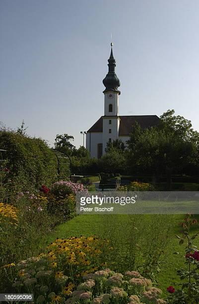 Reise Kirche 'StJosefKirche' Trauung von Waldemar Hartmann und Petra Pöllmann Starnberg Bayern Deutschland Europa Hochzeit Zwiebelturm Garten...