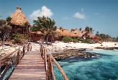 Reise Tulum/Mexico Mittelamerika Strand Meer am Rande der Dreharbeiten zur ARDReihe 'Klinik unter Palmen'
