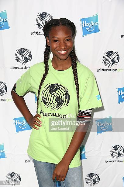 Reiya Downs arrices at the generationOn Hasbro and Pallas Management toy wrapping event on December 11 2016 in Studio City California
