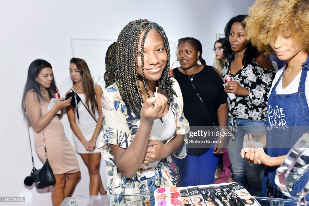 Reiya Downs at 'Pinkie Swear' Makeup Collective Celebrates Launch With Special Exhibition 'Drawn In: Beauty Illustration in the Digital World' Curated by Sarah Brown at Wilding Cran Gallery on August 15, 2017 in Los Angeles, California.