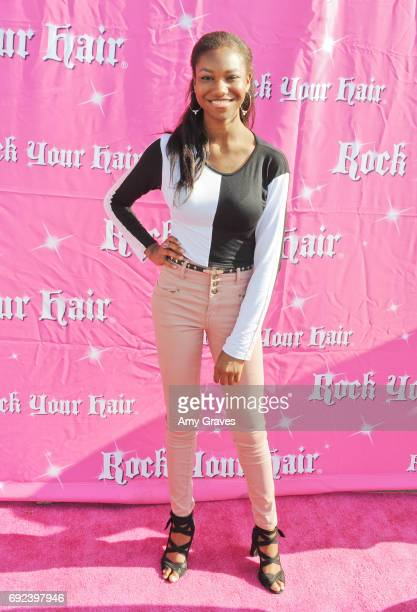 Reiya Downs attends Rock Your Hair Presents 'Rock Your Summer' Party and Concert on June 3 2017 in Los Angeles California