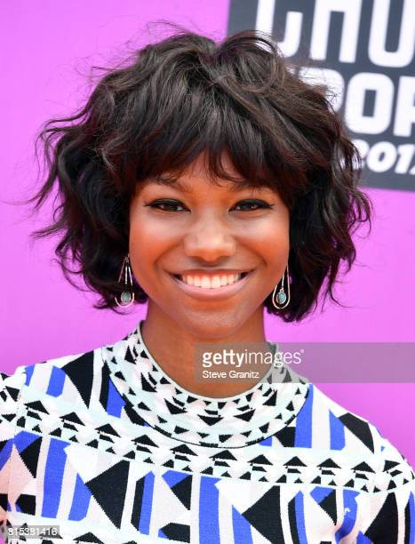 Reiya Downs attends the Nickelodeon Kids' Choice Sports Awards 2017 at Pauley Pavilion on July 13 2017 in Los Angeles California