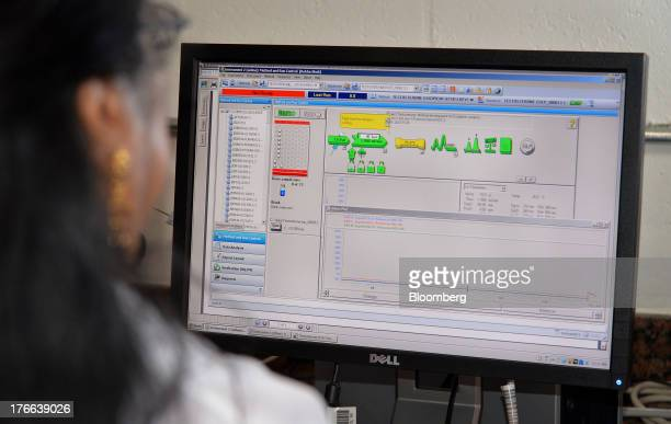 Rekha Shah director of analytical sciences at Transdermal Delivery Solutions reviews test results of a testosterone formulation from a...