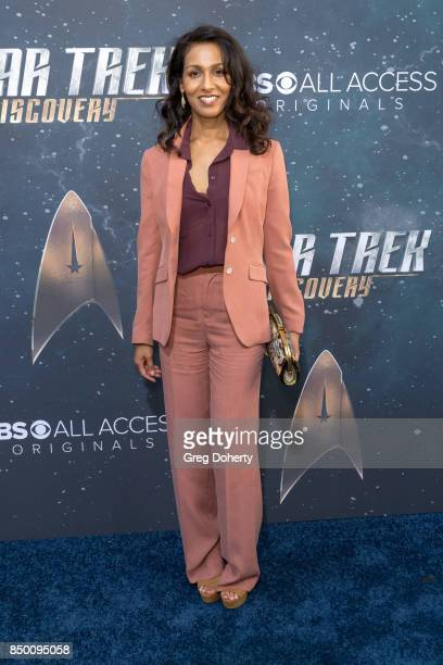 Rekha Sharma arrives for the Premiere Of CBS's 'Star Trek Discovery' at The Cinerama Dome on September 19 2017 in Los Angeles California