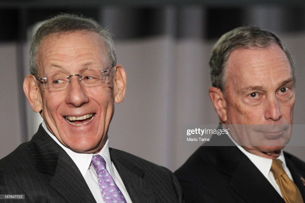 Related Companies Chairman Stephen M. Ross (L) and New York City Mayor Michael Bloomberg attend a groundbreaking ceremony for the Hudson Yards development which is expected to boast 13 million square feet of residential and commercial space on a 26-acre site on Manhattan's west side on December 4, 2012 in New York City. Related Companies is the developer of the project. The site was the largest undeveloped piece of property in Manhattan and is expected to create around 23,000 construction jobs. It will be the largest private development in the city since Rockefeller Center.