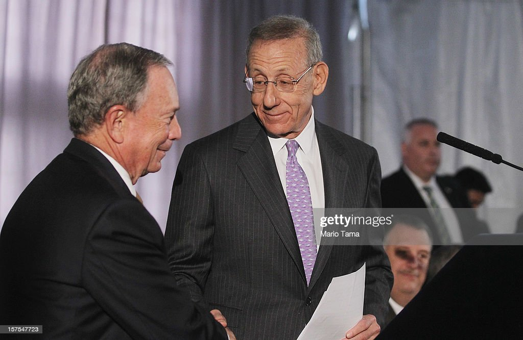 Related Companies Chairman Stephen M. Ross (C) shakes hands with New York City Mayor Michael Bloomberg at a groundbreaking ceremony for the Hudson Yards development at the site which is expected to boast 13 million square feet of residential and commercial space on a 26-acre site on Manhattan's west side on December 4, 2012 in New York City. Related Companies is the developer of the project. The site was the largest undeveloped piece of property in Manhattan and is expected to create around 23,000 construction jobs. It will be the largest private development in the city since Rockefeller Center.