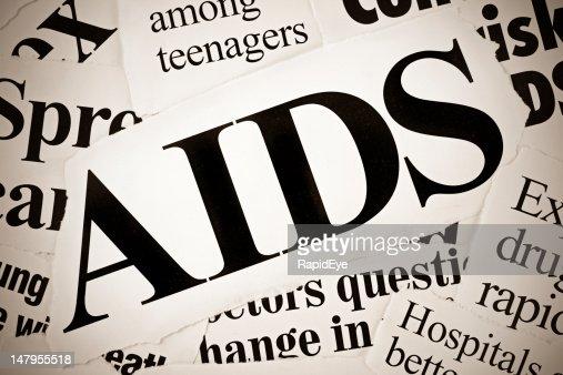 AIDS related newspaper headlines