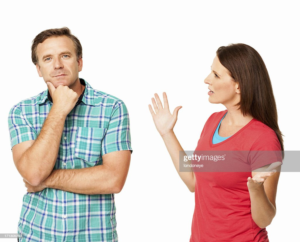 Relationship Difficulties - Isolated : Stock Photo