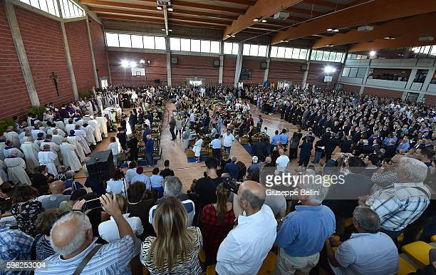 Relatives along withh Italian President Sergio Mattarella Italy's upper house of Parliament Piero Grasso Italy's lower house of Parliament Laura...