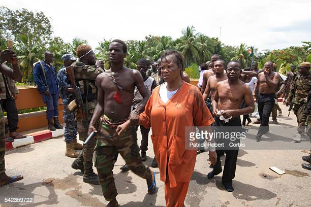 Relatives and family members of Laurent Gbagbo are arrested with him Some of them where beaten by supporters of elected President Alassane Ouattara