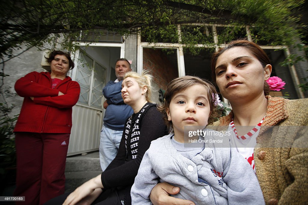 Relatives of miner Serkan Gunes who lost his life in Soma mourn in their home in Turkey's western province of Manisa May 17 2014 Manisa Governorate...