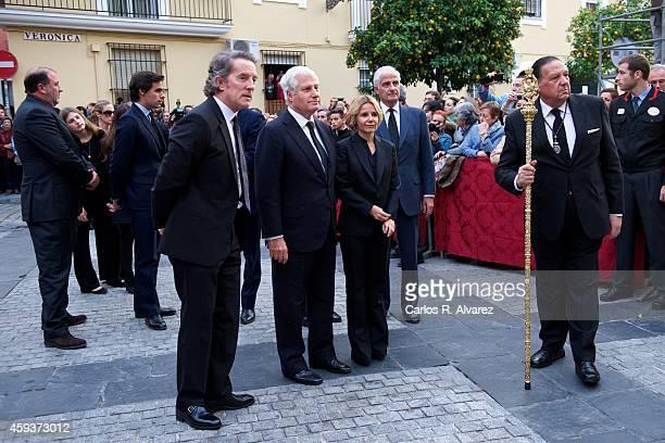 Relatives of Spain's Duchess of Alba Alfonso Diez Carlos FitzJames Stuart y Martinez de Irujo Eugenia Martinez de Irujo y FitzJames Stuart and...