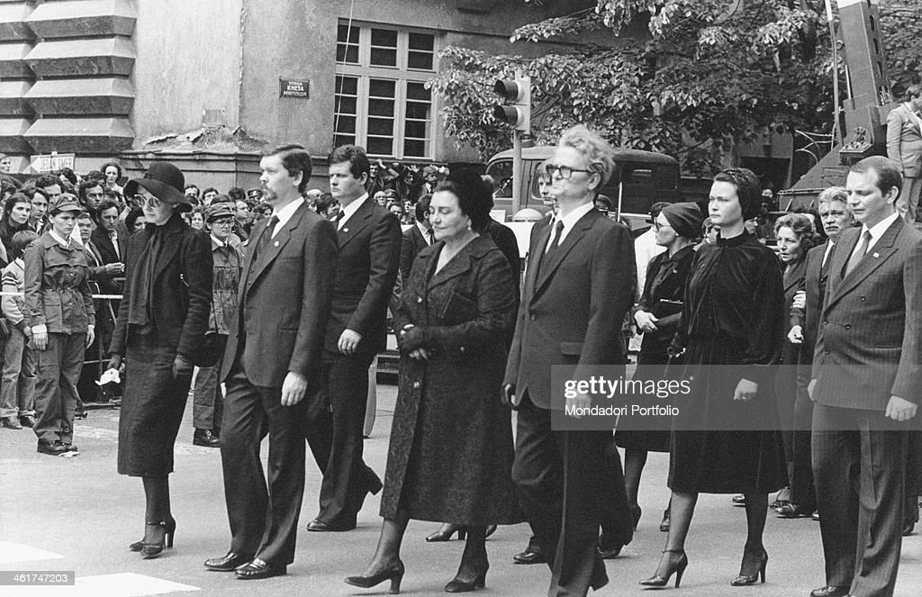 Relatives taking part in the funeral procession of the President of the Socialist Federal Republic of Yugoslavia <a gi-track='captionPersonalityLinkClicked' href=/galleries/search?phrase=Josip+Broz+Tito&family=editorial&specificpeople=93742 ng-click='$event.stopPropagation()'>Josip Broz Tito</a>. Belgrade, 8th May 1980