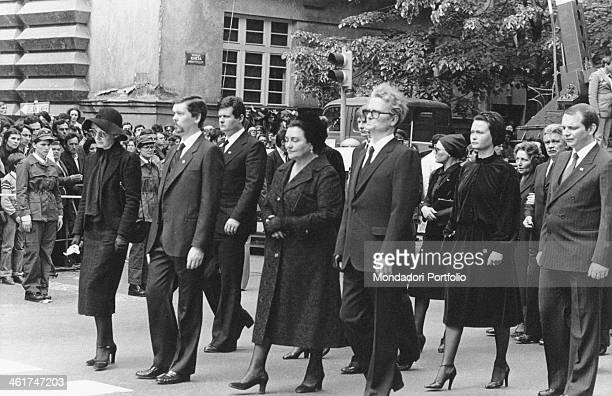 Relatives taking part in the funeral procession of the President of the Socialist Federal Republic of Yugoslavia Josip Broz Tito Belgrade 8th May 1980