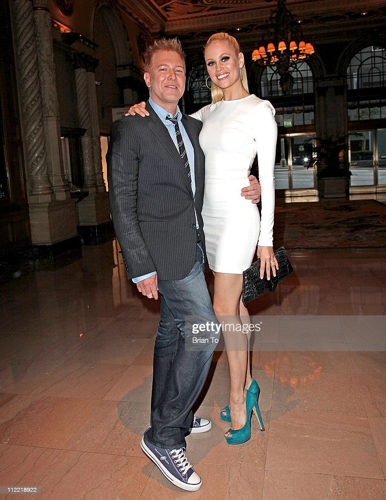 Relativity Media CEO Ryan Kavanaugh and fiancee Britta Lazenga attend Renato Balestra fashion show and cocktail reception benefiting City of Hope at Millennium Biltmore Hotel on April 14, 2011 in Los Angeles, California.