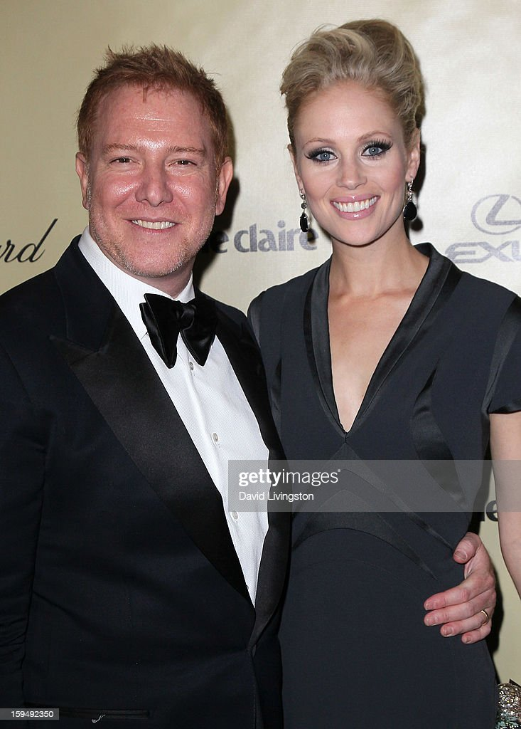 Relativity Media CEO Ryan Kavanaugh (L) and wife Britta Lazenga attend The Weinstein Company's 2013 Golden Globe Awards After Party at The Beverly Hilton hotel on January 13, 2013 in Beverly Hills, California.