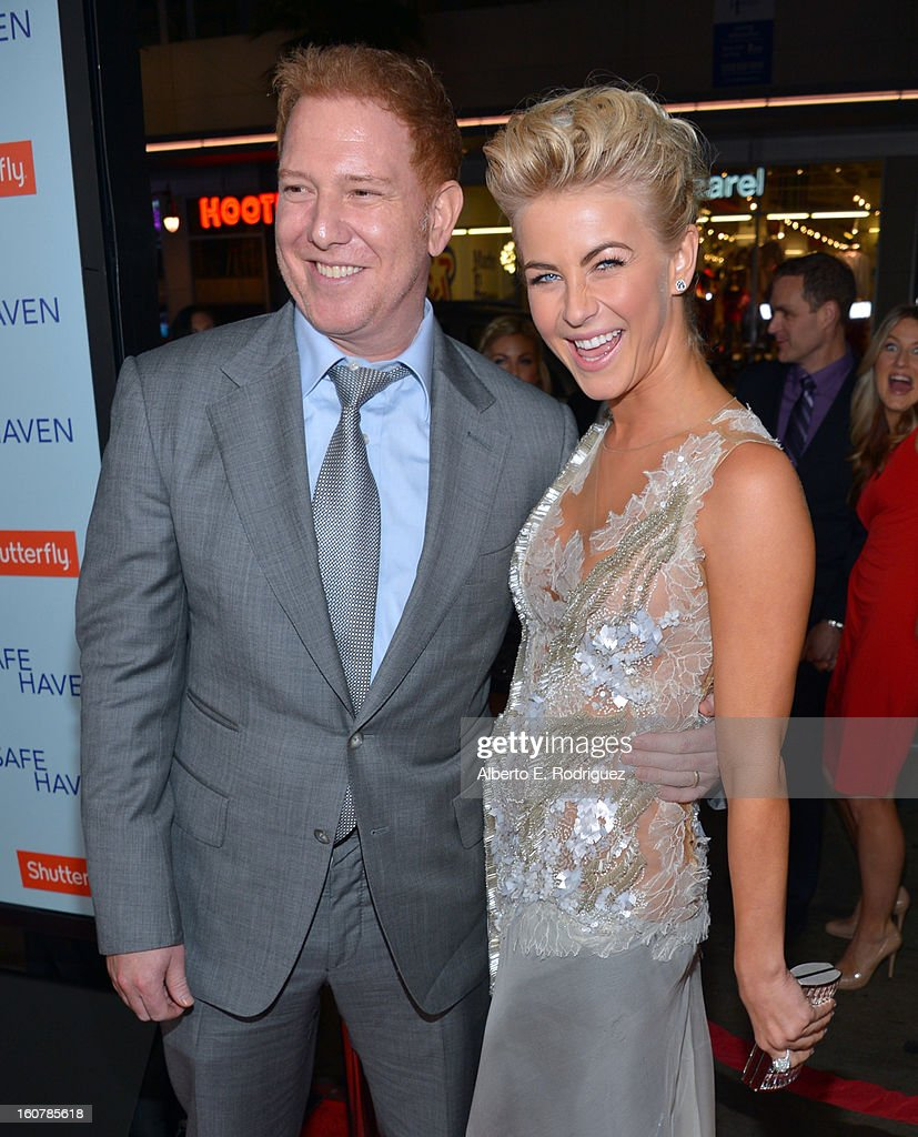 Relativity Media's Ryan Kavanaugh (L) and actress Julianne Hough arrive at the premiere of Relativity Media's 'Safe Haven' at TCL Chinese Theatre on February 5, 2013 in Hollywood, California.