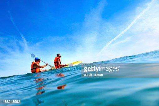 relax in canoe