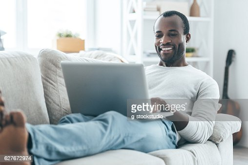 Relaxation at home. : Stock Photo