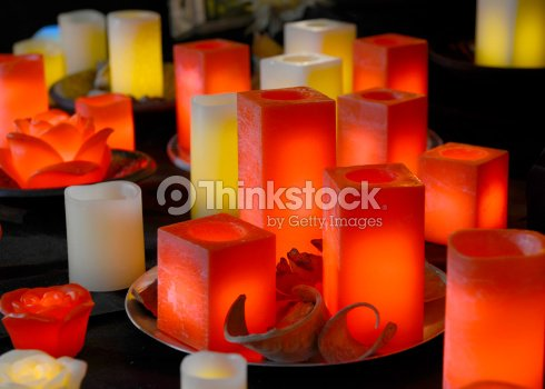 Relaxation candles : Stock Photo