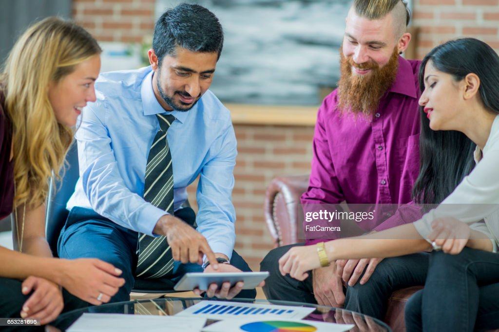 Relaxed Business Group : Stock Photo
