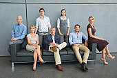 Relaxed Business Team Portrait