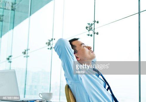 Rilassata Uomo d'affari