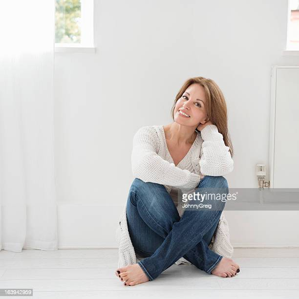 Relaxed casual portrait of attractive woman