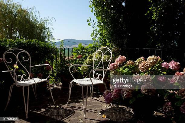 relaxed garden terrace