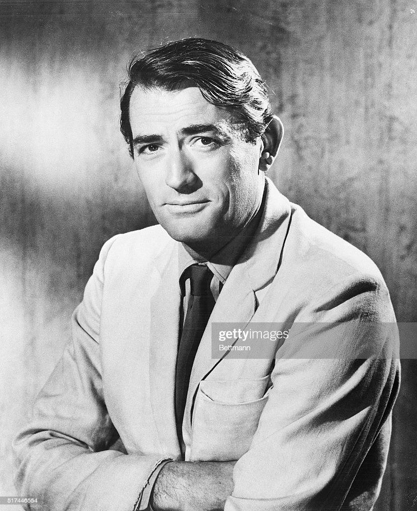 A relaxed 'Man in the white suit' picture of <a gi-track='captionPersonalityLinkClicked' href=/galleries/search?phrase=Gregory+Peck&family=editorial&specificpeople=69992 ng-click='$event.stopPropagation()'>Gregory Peck</a> won his vote as his favorite picture of himself. He feels that the ideal photograph of a movie star is one that makes him look as little like an actor as possible.