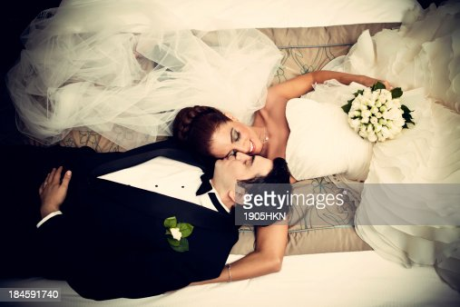 Relaxed newlyweds