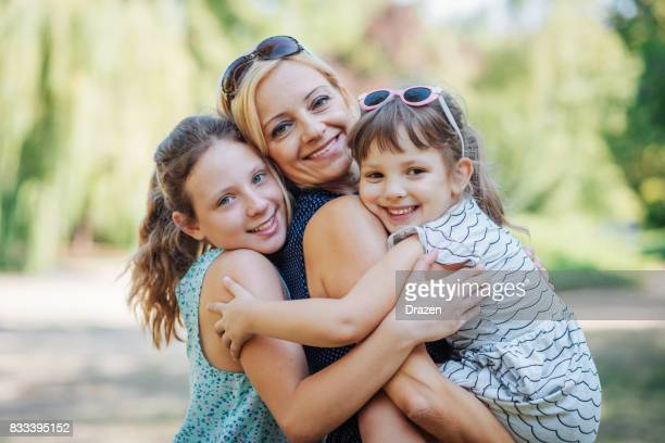 Relaxed parenting with cute daughters