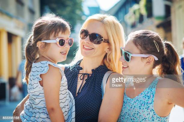Relaxed parenting with cute young daughters